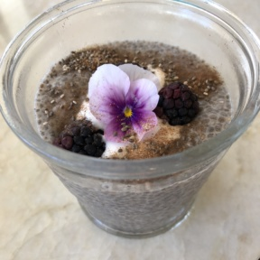 Chia seed pudding from Tocaya Organica