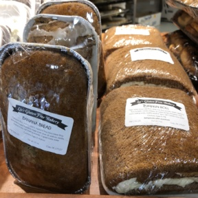 Banana bread and pumpkin roll from Beiler's Bakery