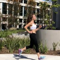 Jackie running in Santa Monica