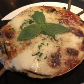 Gluten-free eggplant parmesan from RPM Italian
