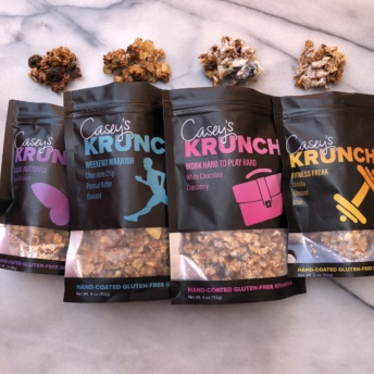Four flavors of gluten-free granola by Casey's Krunch