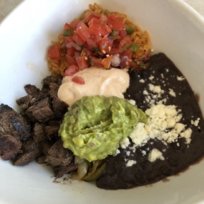 Gluten-free Mexican bowl from Tocaya Organica