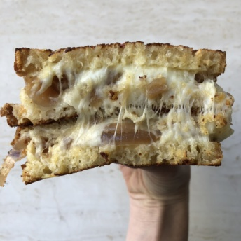 Gluten-free French Onion grilled cheese from GCDC