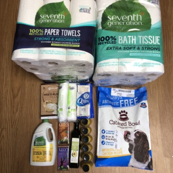 Household items and dog food from Vitacost