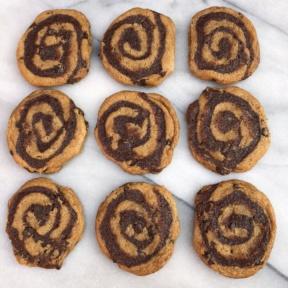 Nine Brownie Swirl Cookies