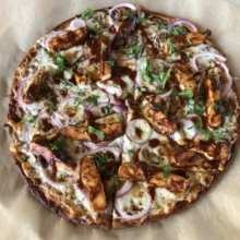 Gluten-free BBQ chicken pizza from California Pizza Kitchen