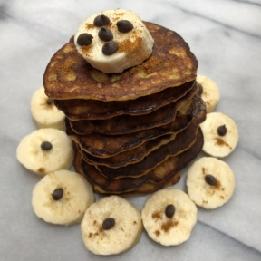 Stack of Paleo Spiced Banana Pancakes