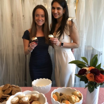 Jackie and Sangam at her bridal shower
