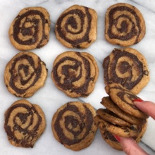 Gluten-free Brownie Swirl Cookies