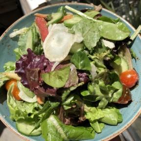 Gluten-free mixed green salad from Herringbone