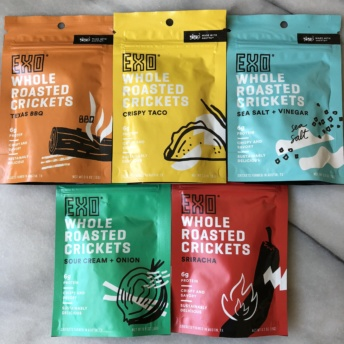 Gluten-free whole roasted crickets by Exo Protein