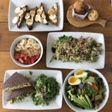 Gluten-free brunch spread from The Source Cafe