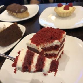 Eating dessert at Senza Gluten Cafe & Bakery
