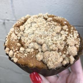 Gluten-free cinnamon swirl coffee cake from Petunia's Pies & Pastries