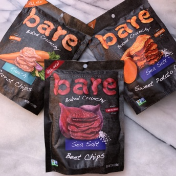 Beet, carrot, and sweet potato chips by Bare Snacks