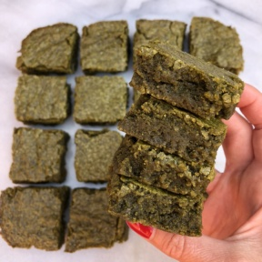 Gluten-free matcha cake