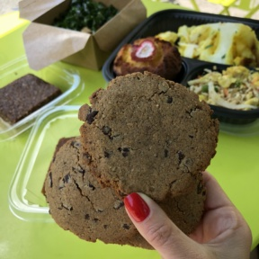 Gluten-free paleo chocolate chip cookies from Hu Kitchen