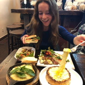 Jackie at Senza Gluten Cafe & Bakery in NYC