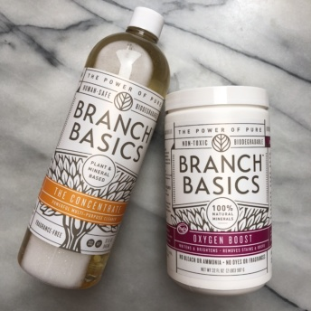 Cleaning supplies from Branch Basics