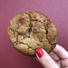 Gluten-free chocolate chip cookie from Ground Breaker Brewing