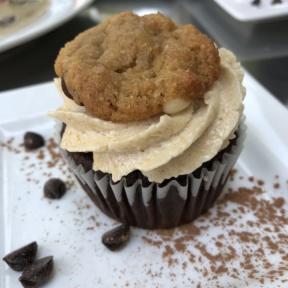 Gluten-free cookie monster babycake from Petunia's Pies & Pastries