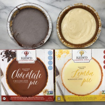 Gluten-free chocolate and lemon pies from Raised Gluten Free