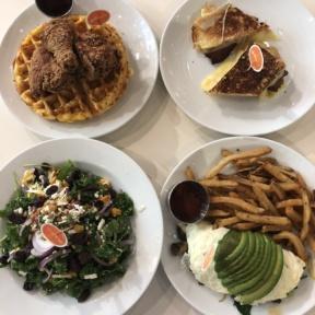 Gluten-free lunch spread from Friedman's