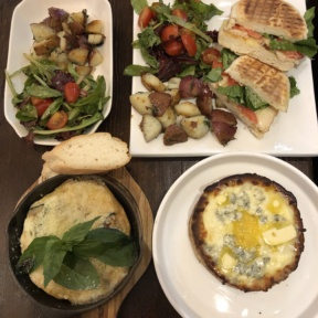 Gluten-free lunch from Senza Gluten Cafe & Bakery in NYC