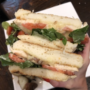 Gluten-free chicken panini from Senza Gluten Cafe & Bakery