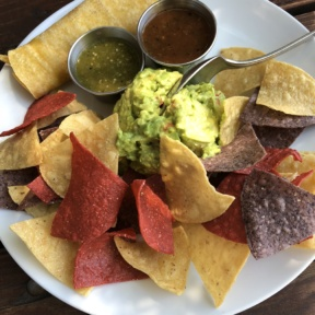 Gluten-free chips and guacamole from Verde Cocina
