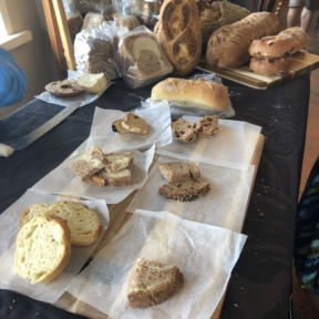 Gluten-free bread samples from New Cascadia