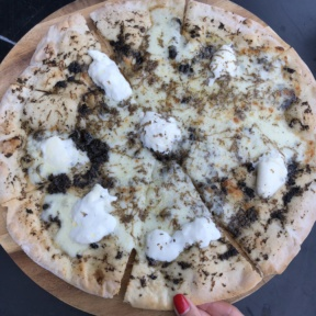 Gluten-free truffle pizza from N.10 Restaurant