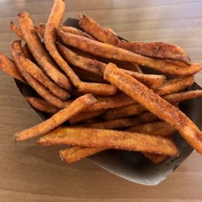 Gluten-free sweet potato fries from Green Tomato Grill
