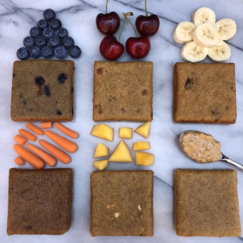 Gluten-free cakes from Nush Foods with fruit
