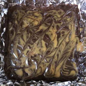 Making Salted Caramel Drizzled Brownies