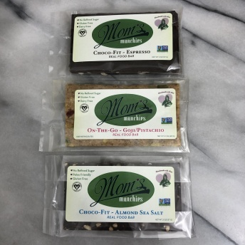 Gluten-free bars by Mom's Munchies