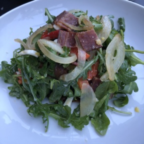 Gluten-free arugula salad from N.10 Restaurant