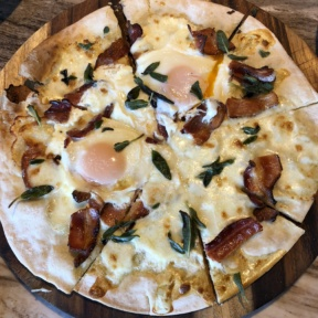 Gluten-free brunch pizza from No. 10 Restaurant