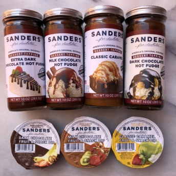 Dessert toppings and chocolate dips from Sanders Candy