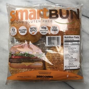 Gluten-free sugar-free hamburger buns from Smart Baking Company