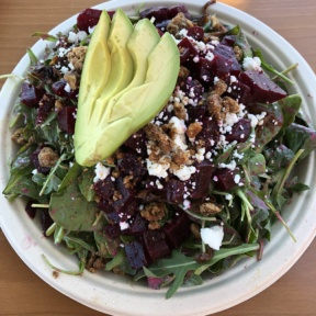 Gluten-free beet salad from Green Tomato Grill
