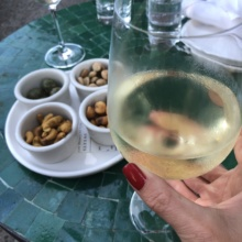 Wine and nuts from Esters Wine Shop & Bar