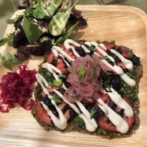 Gluten-free raw vegan pizza from Food Harmonics