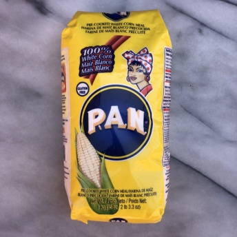 Gluten-free corn meal from Harina P.A.N