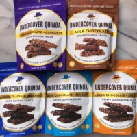 Gluten-free crispy quinoa snacks by Undercover Chocolate