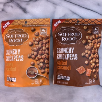 Salted caramel and honey roasted crunchy chickpeas by Saffron Road