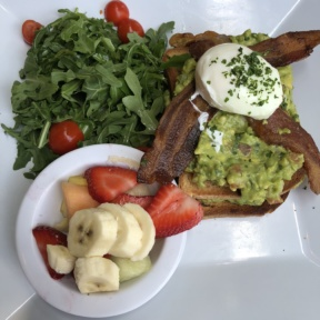 Guacamole toast from Jinky's Cafe