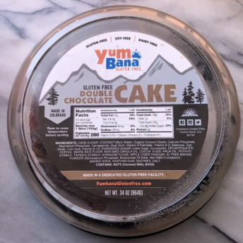 Gluten-free double chocolate cake from Yumbana
