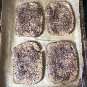 Making gluten-free Cinnamon Toast PB&J