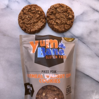 Gluten-free oatmeal walnut chip cookies from Yumbana
